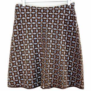 SNAK - ANTHRO brown eyelet skirt • blue lining